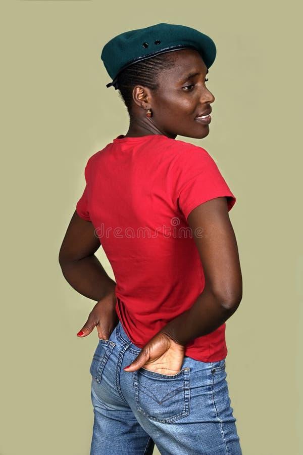 czarna kobieta modna zdjęcia stock