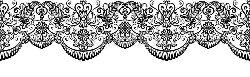 Czarna koronki granica royalty ilustracja