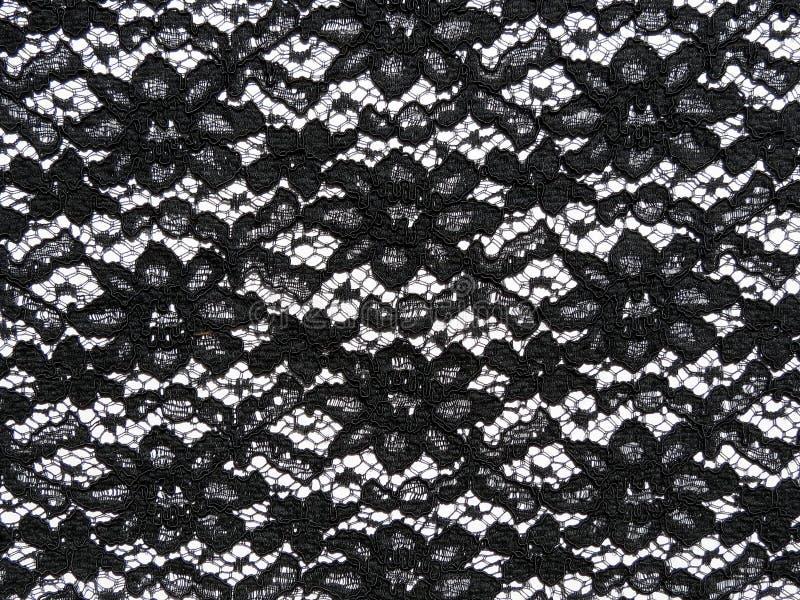 Czarna koronkowa tkanina zdjęcia royalty free
