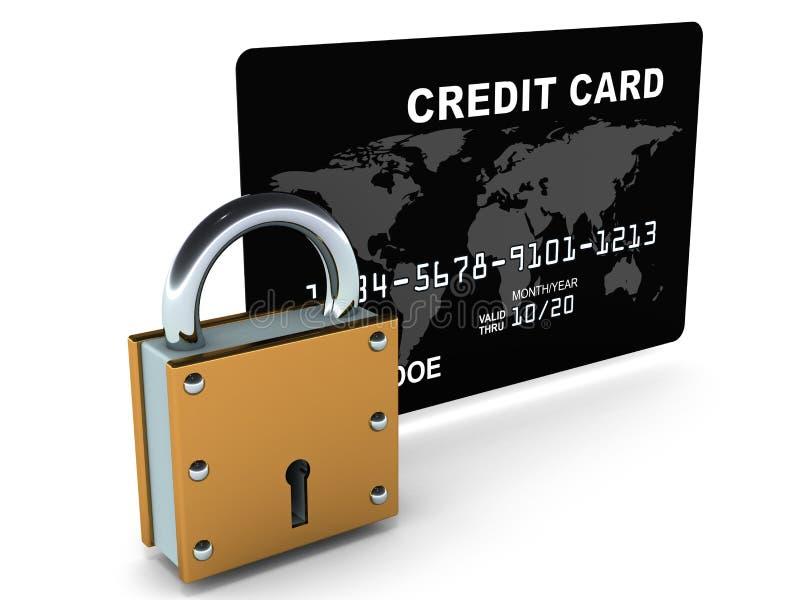 Bezpieczna kredytowa karta royalty ilustracja