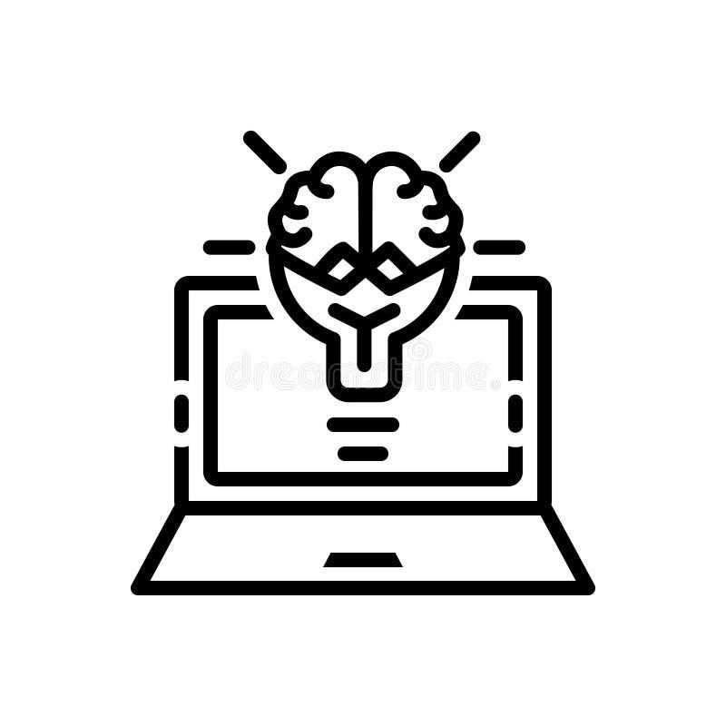 Czarna kreskowa ikona dla Kreatywnie, kampanii i wyprawy, royalty ilustracja