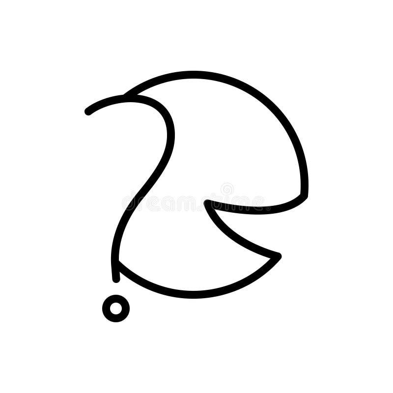 Czarna kreskowa ikona dla Pyta, wątpi i kwestionuje, ilustracja wektor