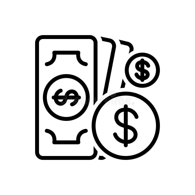 Czarna kreskowa ikona dla równej płacy, odpowiedzialności i różnorodności, ilustracja wektor