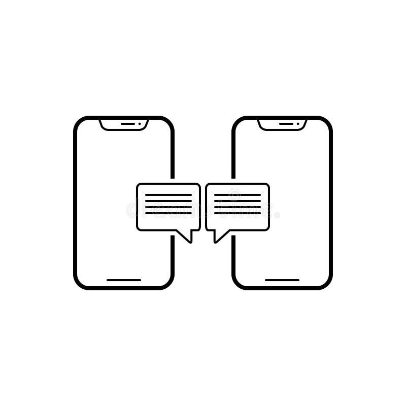 Czarna kreskowa ikona dla rozmowy, opowiadać i plotki, ilustracji
