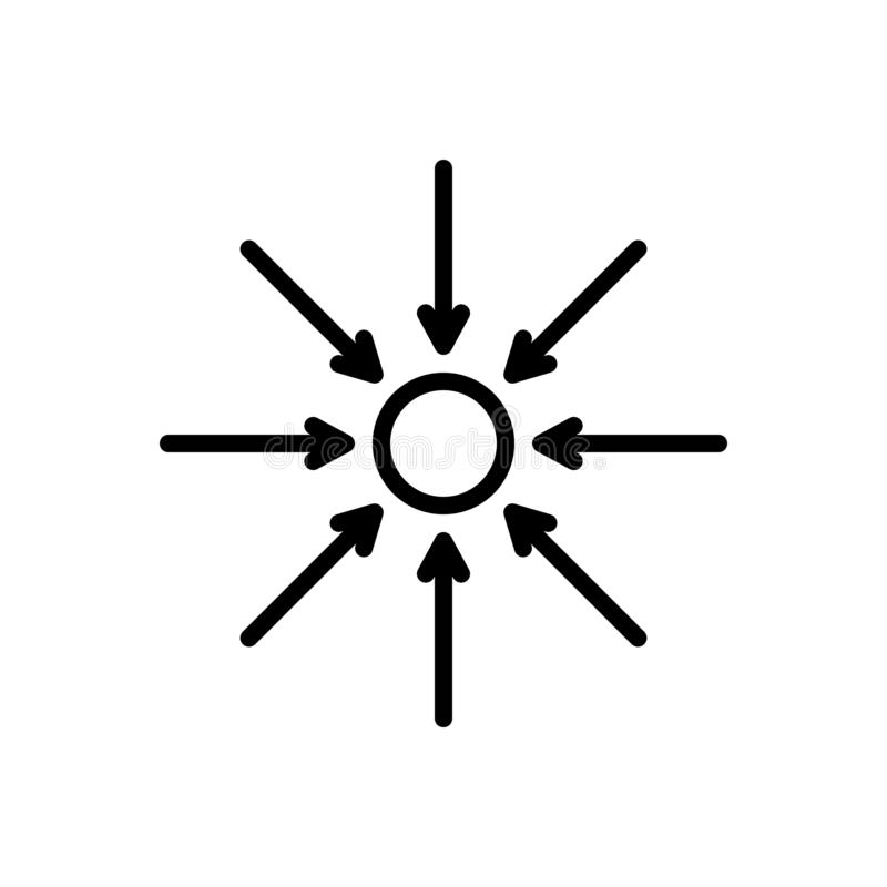 Czarna kreskowa ikona dla Właściwie, actuality i rzeczywistość, ilustracji