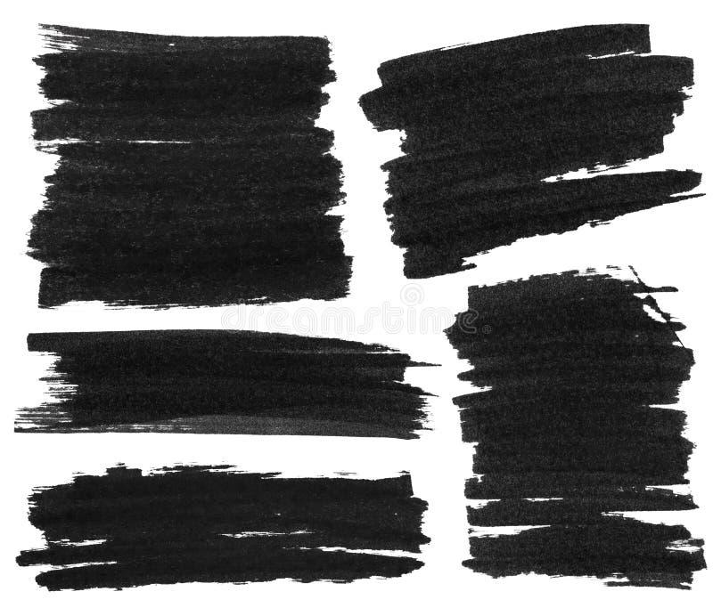 Czarna markier farby tekstura zdjęcia stock