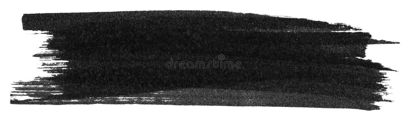 Czarna markier farby tekstura royalty ilustracja