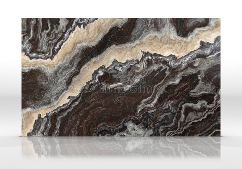 Czarna marmur płytki tekstura obraz royalty free