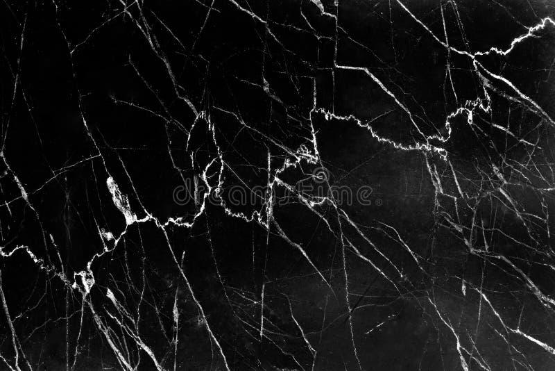 Czarna marmurowa tekstura z naturaln? bia?? lini? deseniuje t?o zdjęcia royalty free