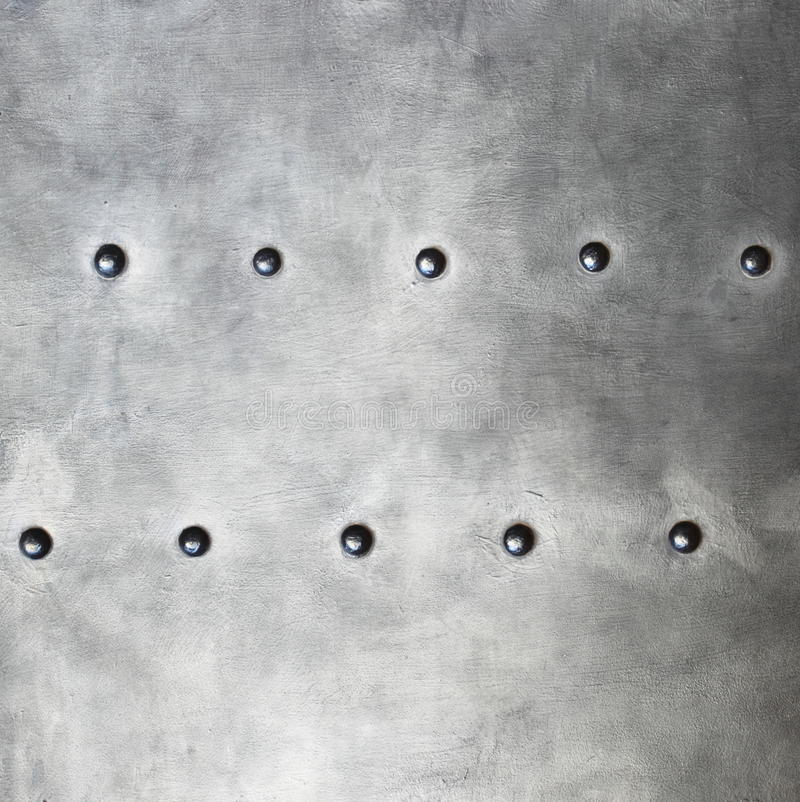 Czarna metal zbroi lub talerza tekstura z nitami obrazy stock