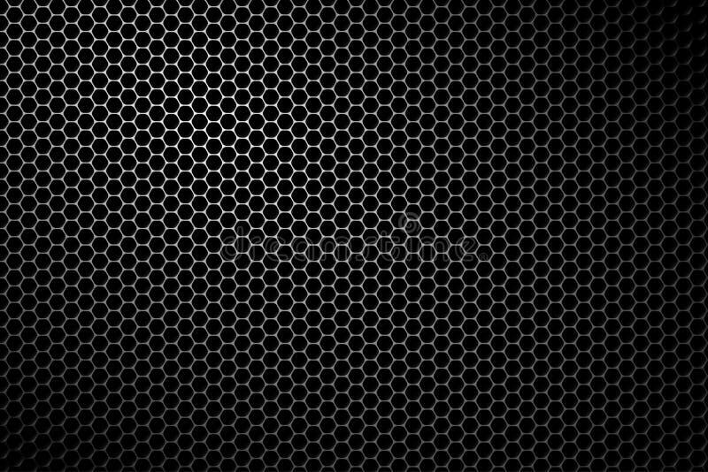 Czarna metalu mówcy siatka royalty ilustracja
