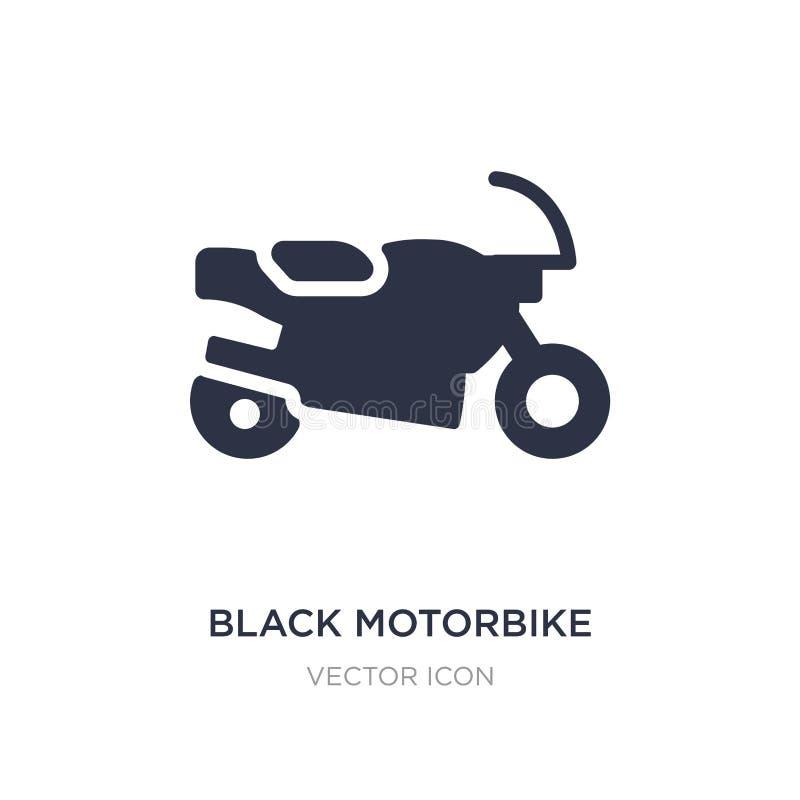 czarna motocykl ikona na białym tle Prosta element ilustracja od Przewiezionego pojęcia royalty ilustracja