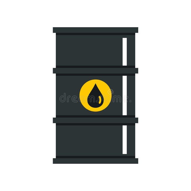 Czarna nafcianej baryłki ikona, mieszkanie styl ilustracji