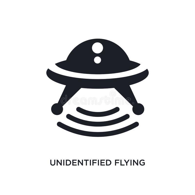 czarna niezidentyfikowanego latającego przedmiota odosobniona wektorowa ikona prosta element ilustracja od transportu poj?cia wek ilustracja wektor