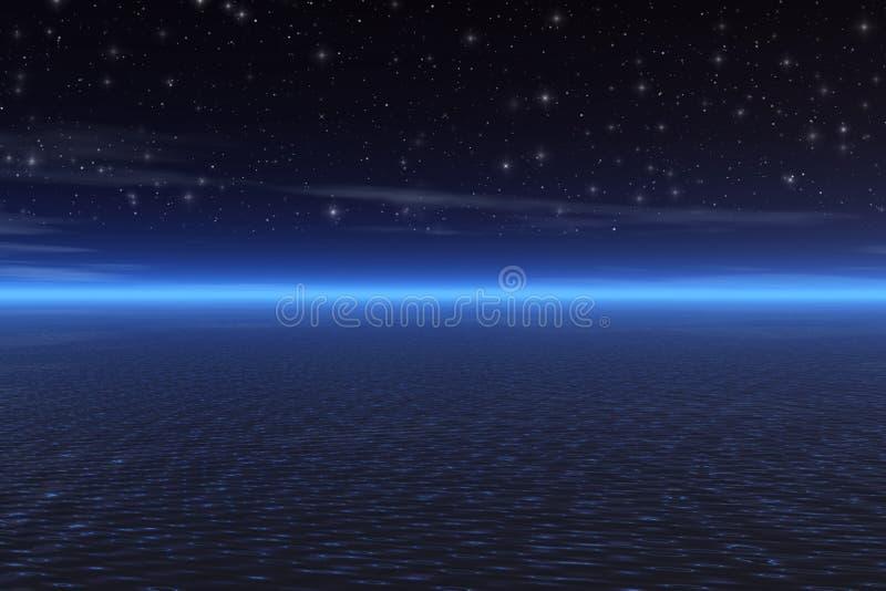 czarna noc ilustracji