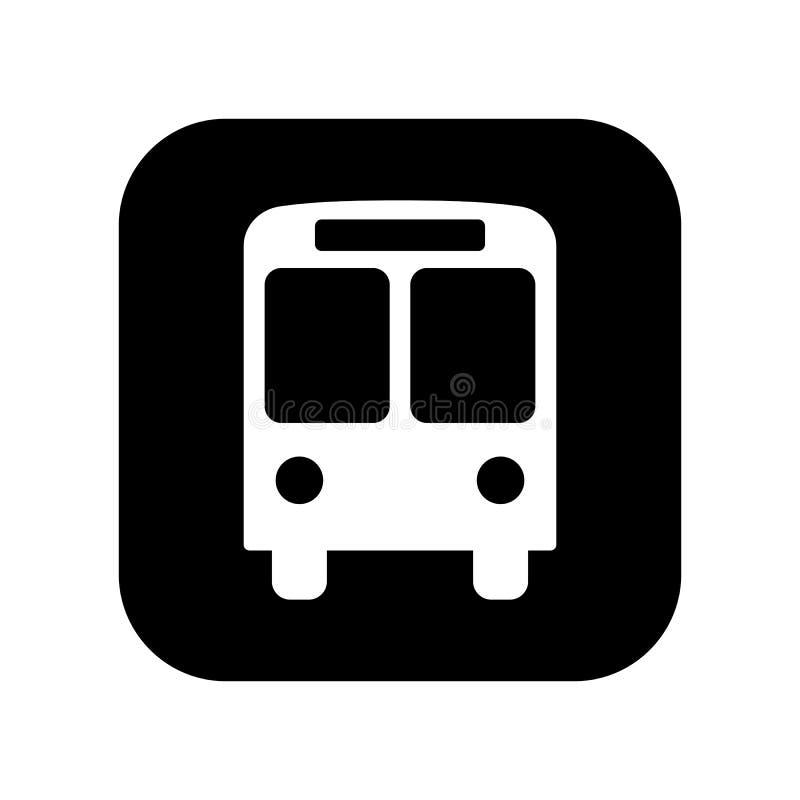 Czarna płaska wektorowa przystanek autobusowy ikona odizolowywająca; przystanek autobusowy informacji znak; piktogram zdjęcia stock