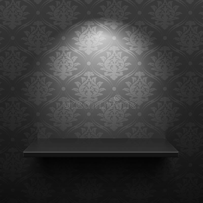 Czarna półka ilustracja wektor