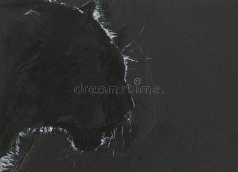 Czarna pantera ilustracja wektor