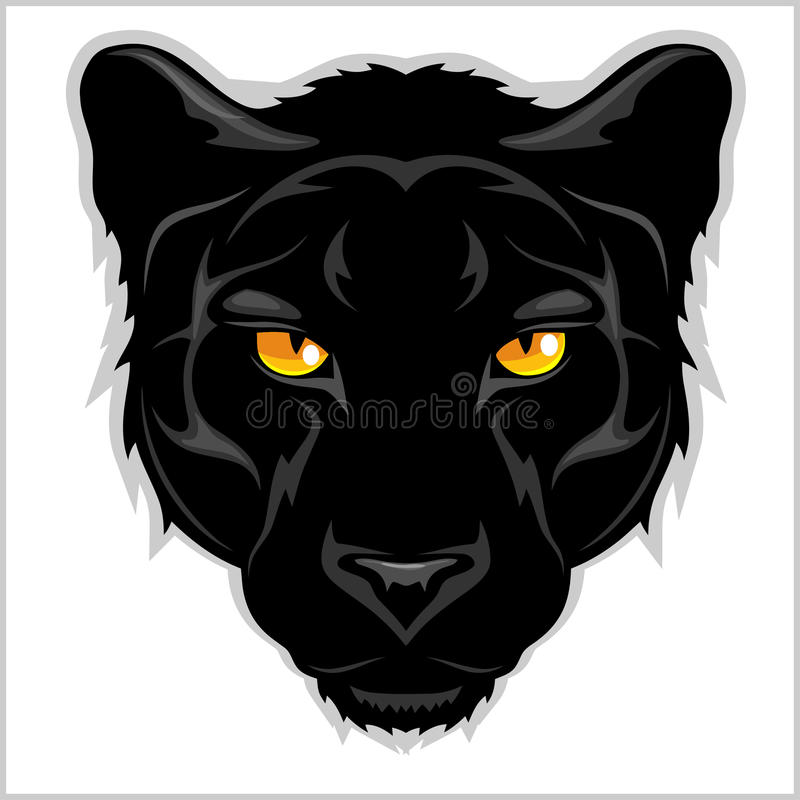 Czarna pantera na białym tle - royalty ilustracja