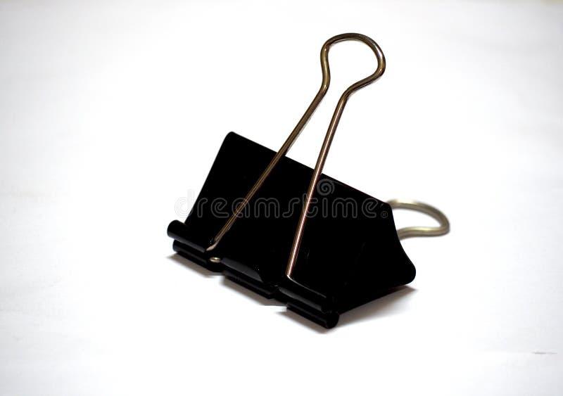 Czarna papierowa klamerka obrazy royalty free
