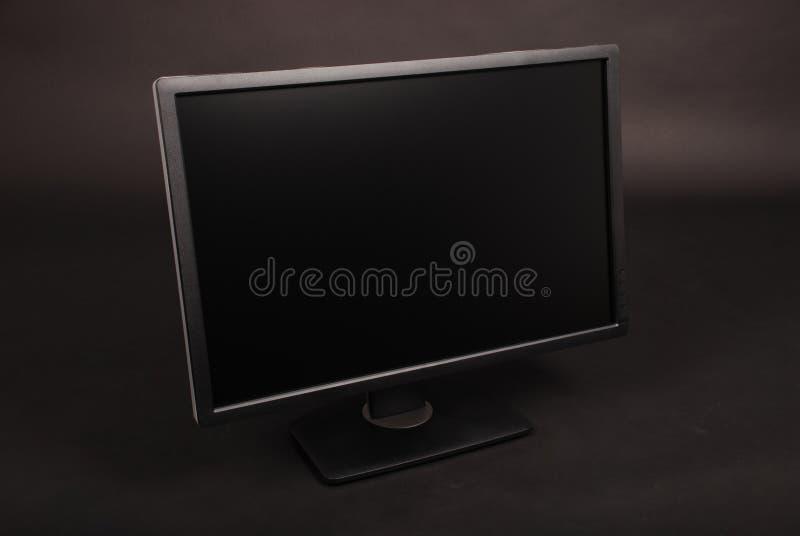 Czarna peceta monitoru ścinku ścieżka fotografia stock