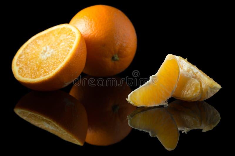 czarna pomarańcze obraz stock