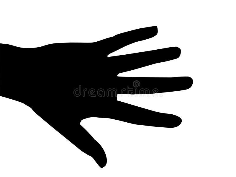 czarna ręka ilustracji