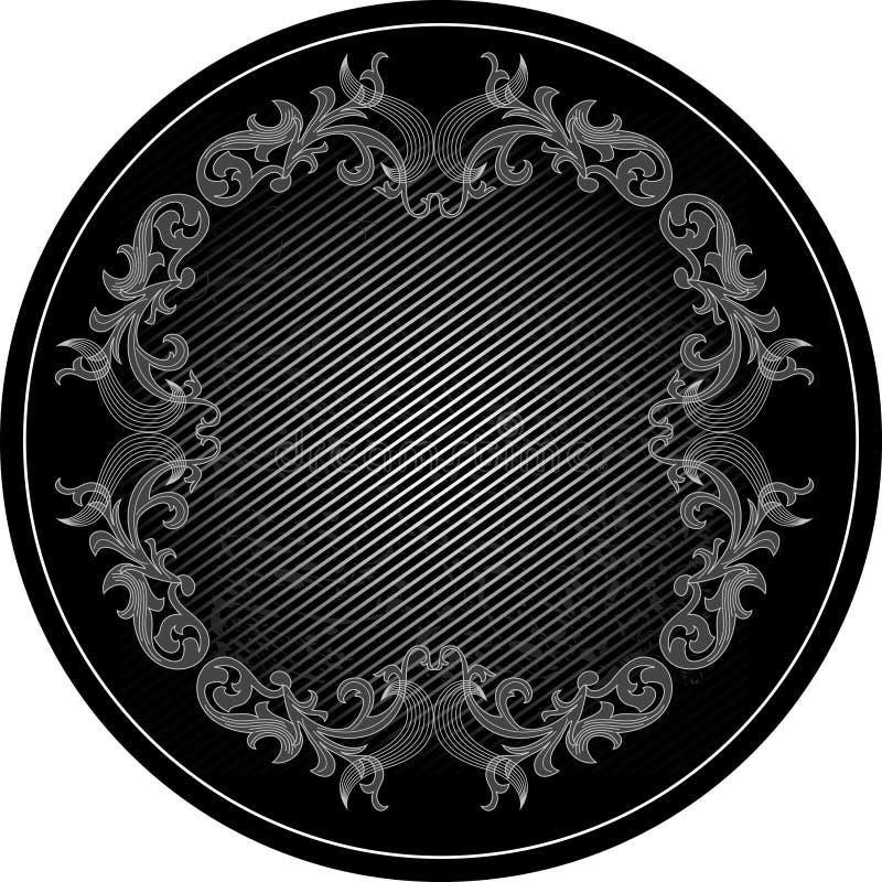 czarna rama obraz stock
