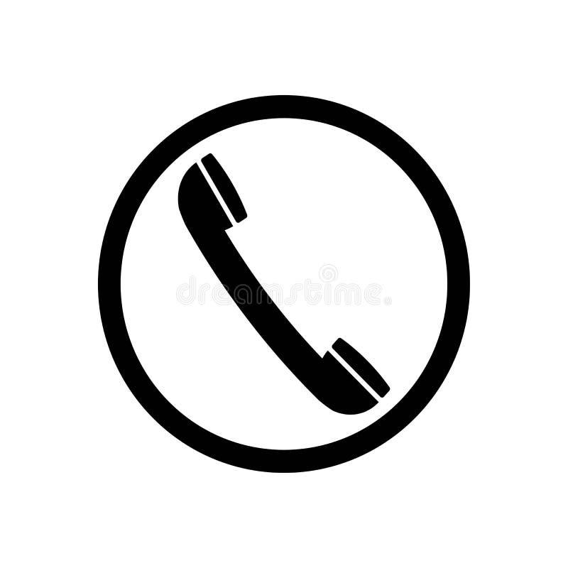 Czarna retro telefoniczna ikona royalty ilustracja