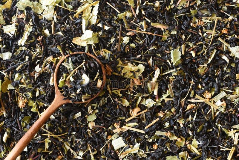 CZARNA ROSYJSKA ZIOŁOWA herbata 01 obraz royalty free