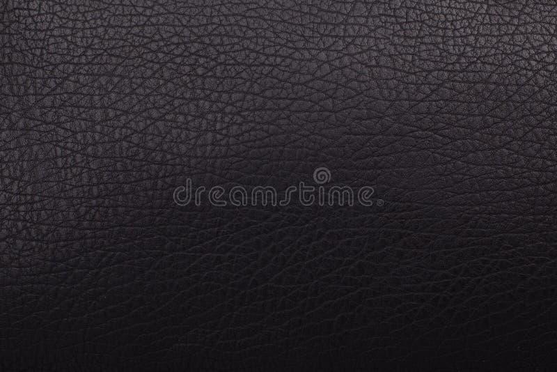 Czarna skóra - tekstura zdjęcie stock