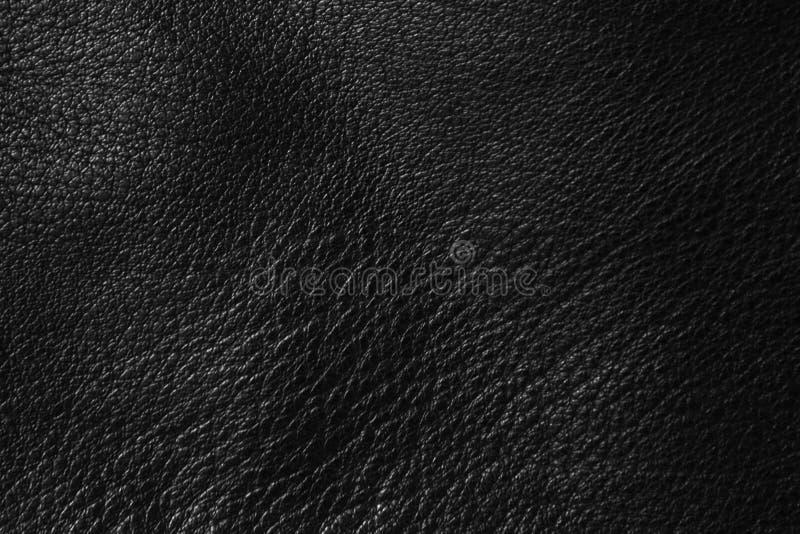 czarna sk?rzana konsystencja zdjęcia stock
