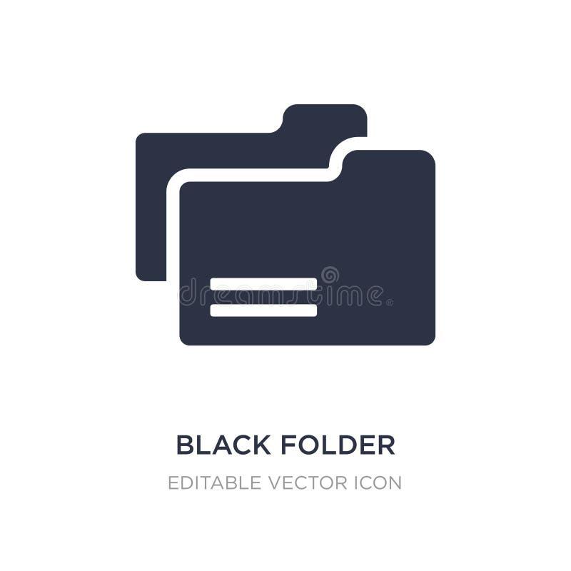 czarna skoroszytowa ikona na białym tle Prosta element ilustracja od edukacji pojęcia royalty ilustracja