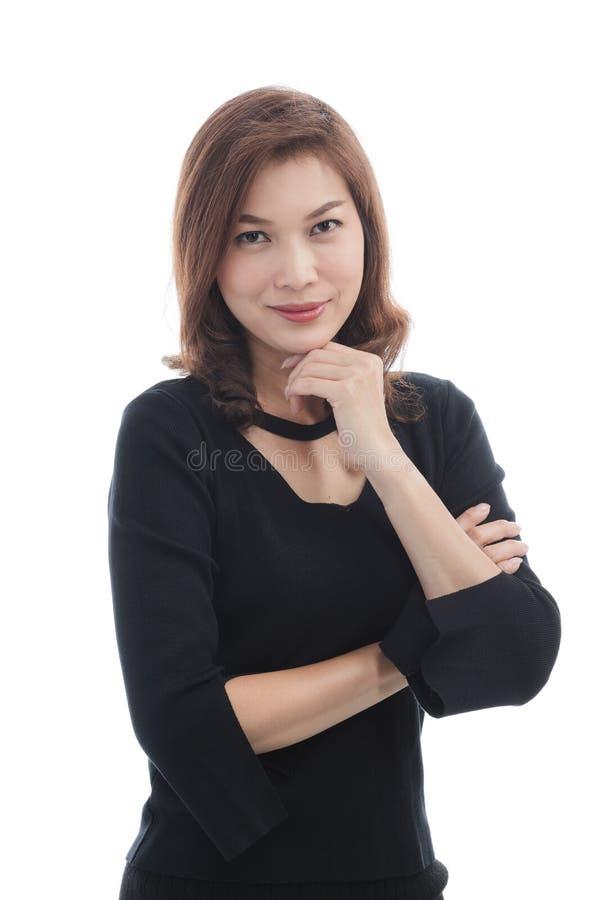 czarna smokingowa lady fotografia stock