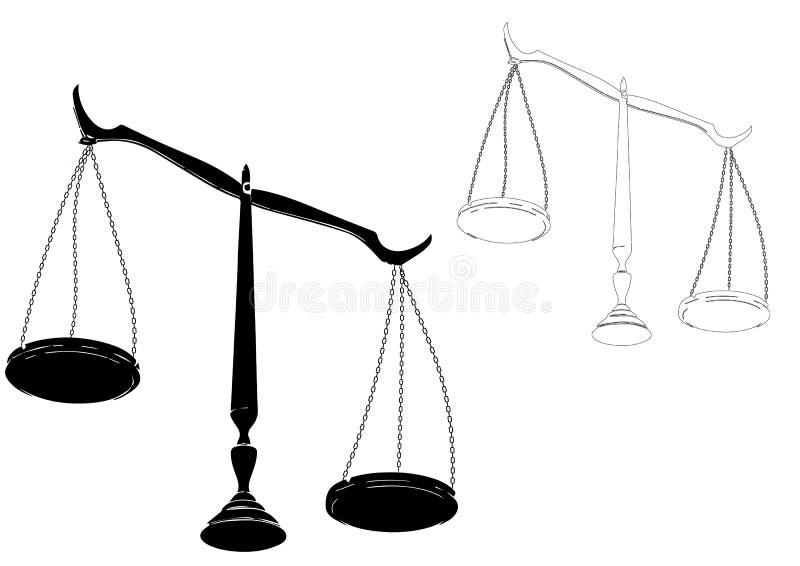 Czarna sprawiedliwość waży royalty ilustracja