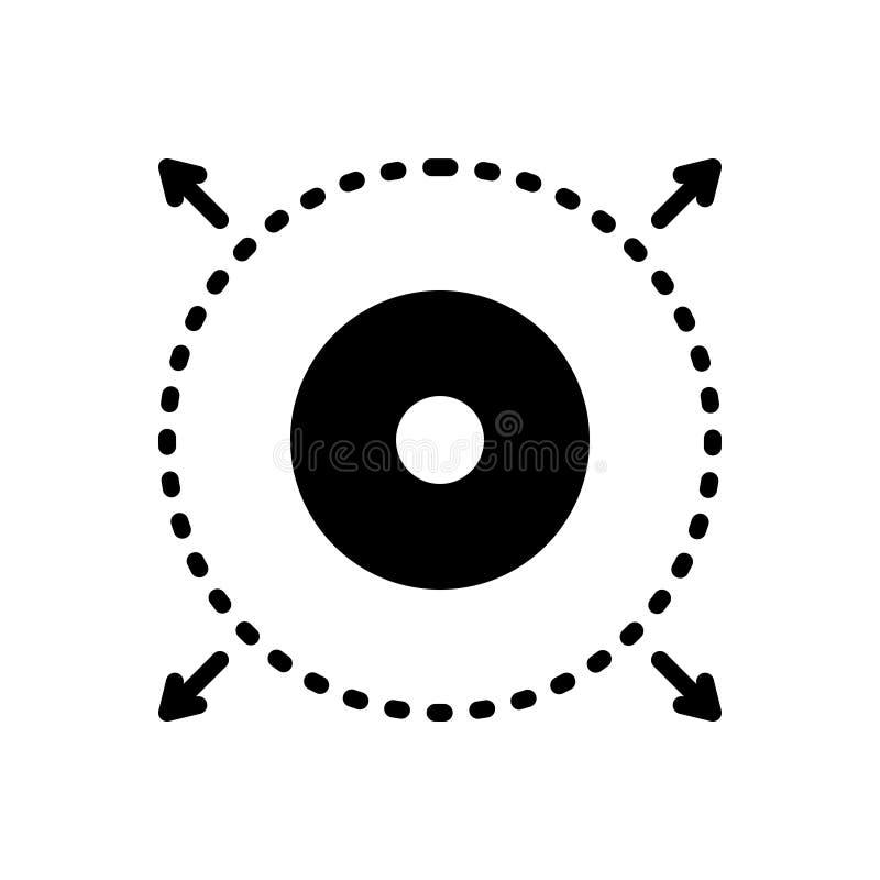 Czarna stała ikona dla Delimiter, rozgranicza i definiuje ilustracji