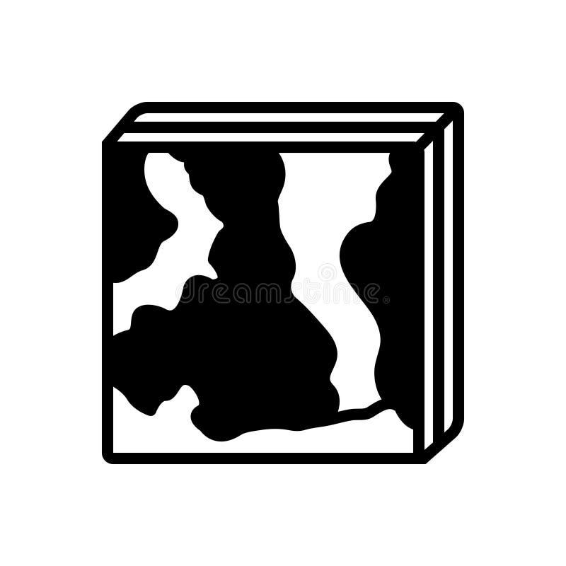 Czarna stała ikona dla Hyperspectral, abstrakcjonistycznego i bezcielesnego, royalty ilustracja