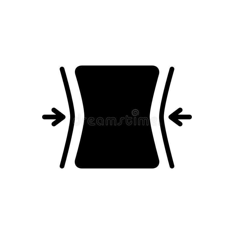 Czarna stała ikona dla napadów, przystosowywa i adaptuje ilustracja wektor
