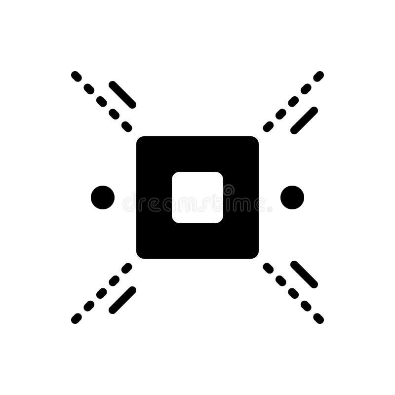 Czarna stała ikona dla Rozgraniczam, delimitate i definiuje royalty ilustracja