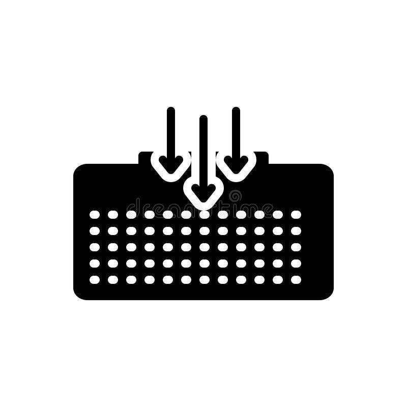 Czarna stała ikona dla Stow, pełnia i impregnuje i dostarcza royalty ilustracja