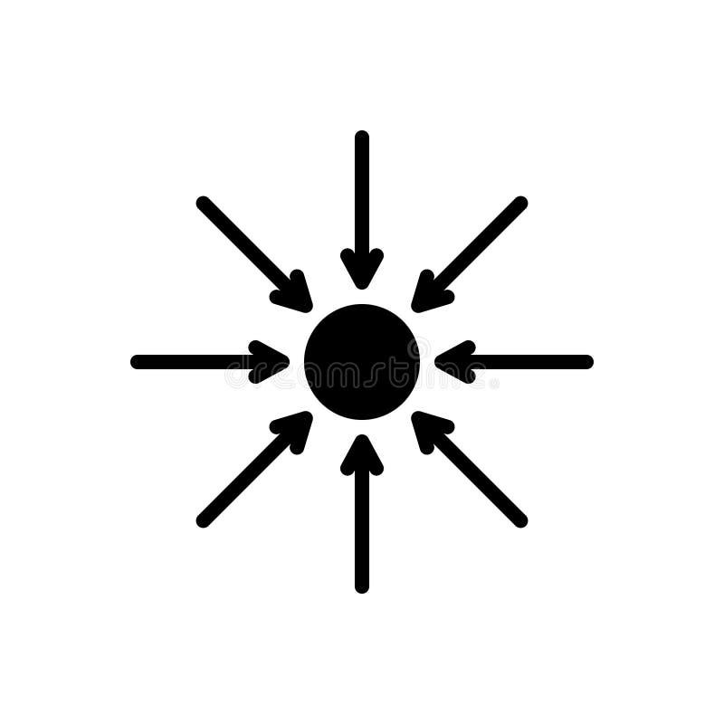 Czarna stała ikona dla Właściwie, genuineness i rzeczywistość, royalty ilustracja