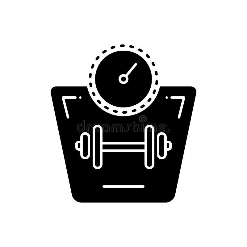 Czarna stała ikona dla wzrosta, cholesterolu i medycznego ciężaru, royalty ilustracja