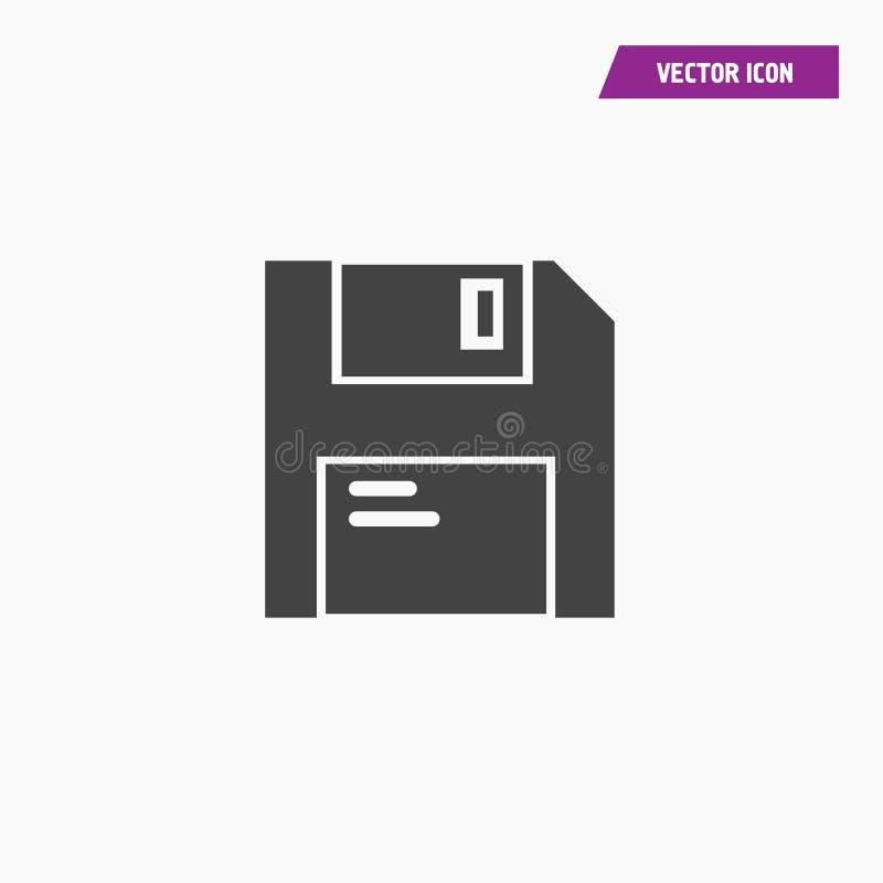 Czarna stała mikro sd karty pamięci ikona ilustracji