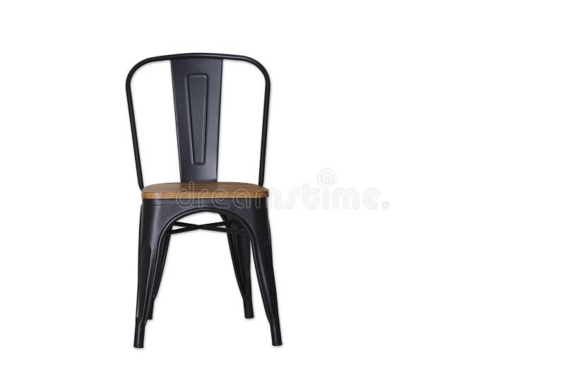 czarna stalowa krzesło ścinku ścieżka na bielu zdjęcie royalty free