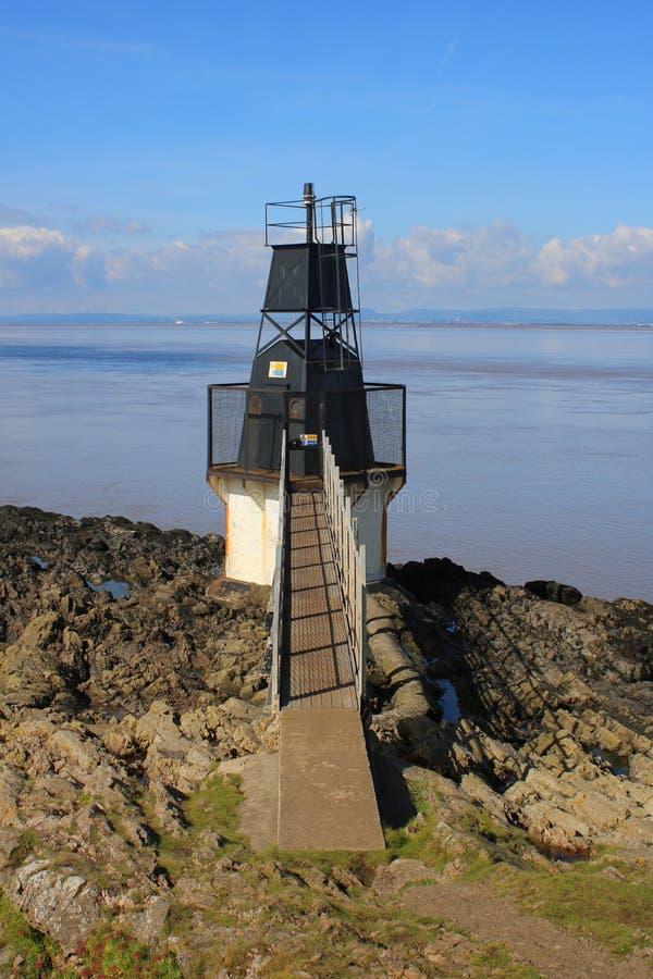 Czarna stalowa latarnia morska zdjęcia royalty free