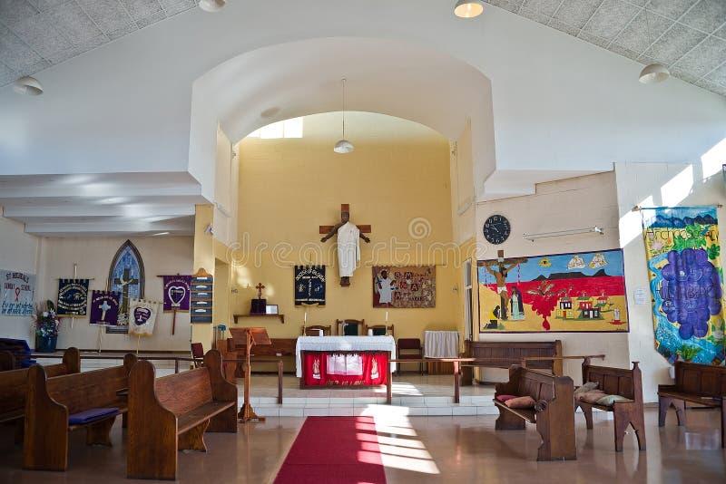 Czarna statua Jezus w kościół społeczność miejska Khayelitsha zdjęcia royalty free