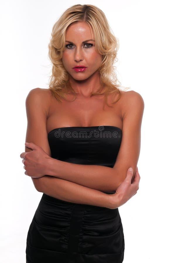 Czarna suknia zdjęcie royalty free