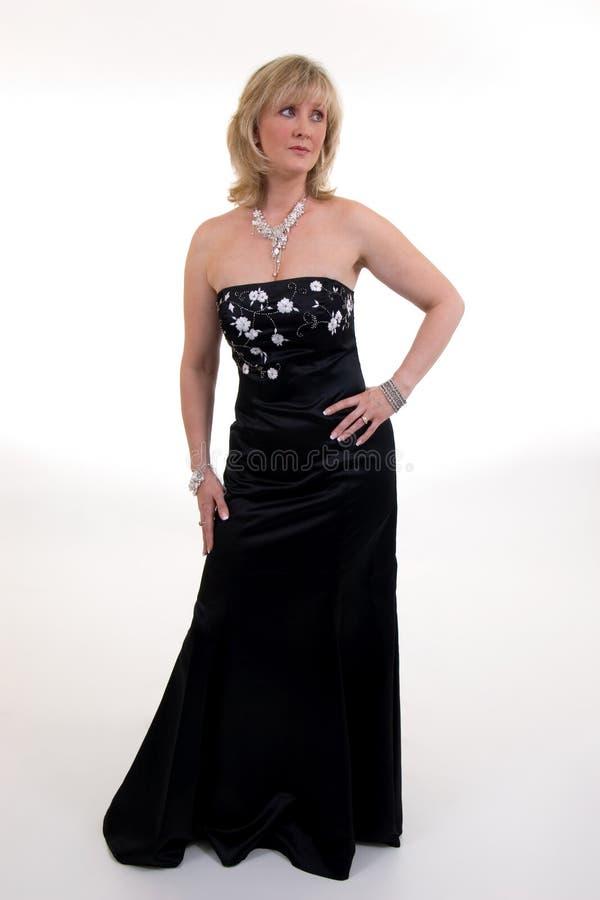 czarna suknia balowa fotografia royalty free