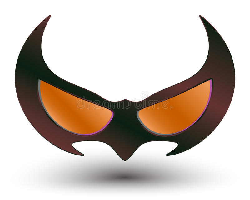Czarna super bohatera maska royalty ilustracja