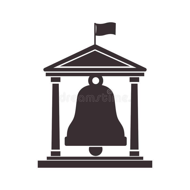 Czarna sylwetki struktura z dzwonem royalty ilustracja